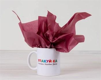Бумага тишью, бордовая, 50х66 см