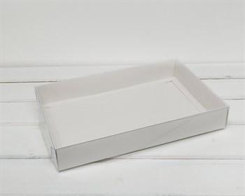 Коробка с прозрачной крышкой Классика, 35х27х5 см, белая