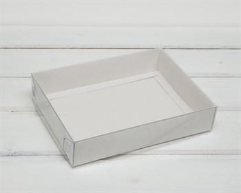 Коробка с прозрачной крышкой Классика, 20х15х4 см, белая
