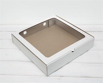 Коробка с окошком, 30х30х6 см, белая