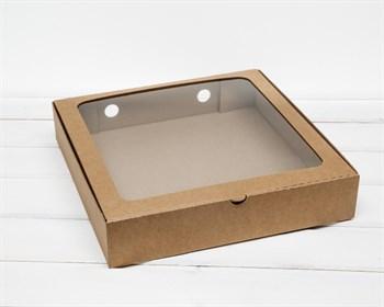 Коробка с окошком, 30х30х6 см, крафт