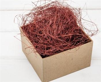 Сизаль декоративный, цвет бордовый, 50 грамм