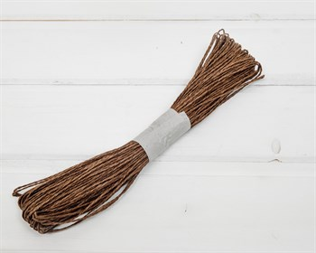 Шнур бумажный, коричневый, 47м