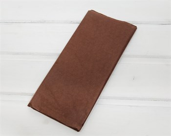 Бумага тишью, шоколад, 50х66 см 10 шт.