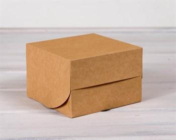 Коробка для выпечки, 16х16х11 см, крафт