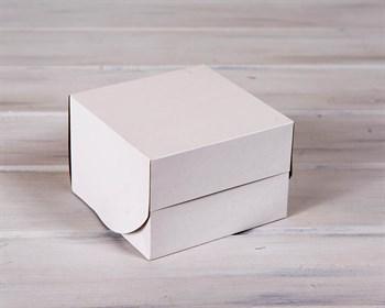 Коробка для выпечки, 16х16х11 см, белая