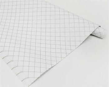 Бумага упаковочная, 70х100 см, клетка на белом, 1 лист