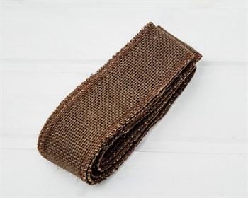 Лента джутовая 50 мм, коричневая, 1 м