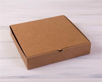 Коробка для пирога 30х30х6 см из плотного картона, крафт