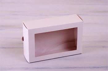 Коробка для макаронс на 12 шт, 18,5х12,2х6 см, с прозрачным окошком, белая