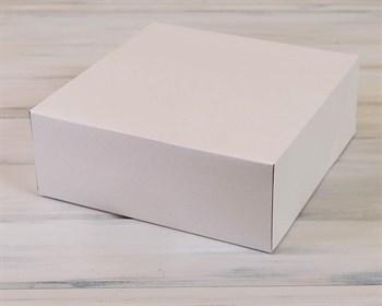Коробка для торта от 1 до 3 кг, 32,5х32,5х12 см, d= 25-32 см,  белая