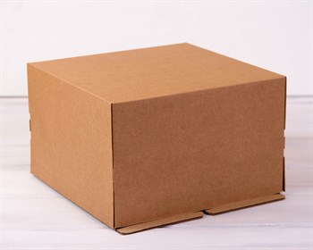 Коробка для торта усиленная от 1 до 3 кг, 30х30х19 см, крафт