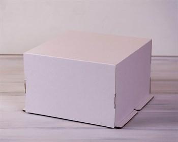 Коробка для торта усиленная от 1 до 3 кг, 30х30х19 см, белая