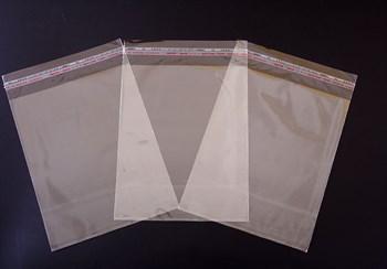 Пакет  с клейкой лентой 20х25 см, прозрачный