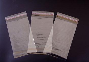 Пакет  с клейкой лентой 16х26 см, прозрачный