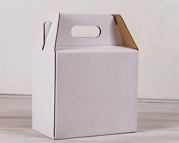 Коробка сундучок с ручками, 24х14х21,5 см, белая