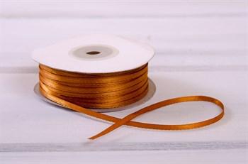 Лента атласная, 3 мм, светло-коричневая, 1 м