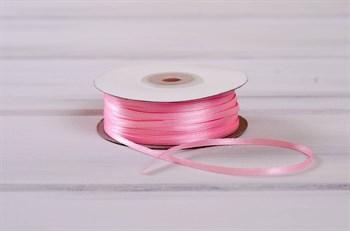 Лента атласная, 3 мм, ярко-розовая, 1 м