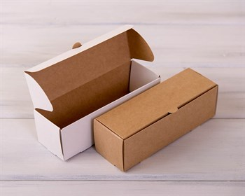 УЦЕНКА Коробка для макаронс на 6 шт, 18,5х6х6 см, двусторонняя (белая/крафт)