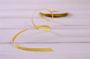 Лента металлизированная, 6 мм, золотая,  1 м