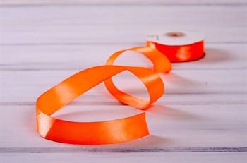 Лента атласная, 24 мм, оранжевая, 1 м