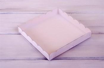 Коробка с прозрачной крышкой Ажурная, 20х20х3 см, белая