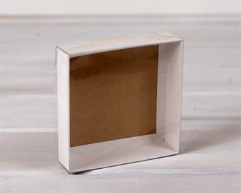 Коробка с прозрачной крышкой Классика, 12х12х3 см, двусторонняя