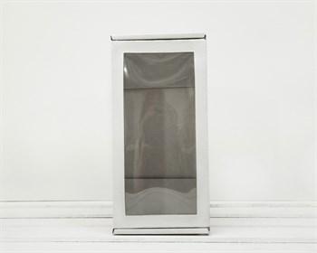 Коробка для двух ёлочных шаров с окошком, 24х12х12 см, из плотного картона, белая