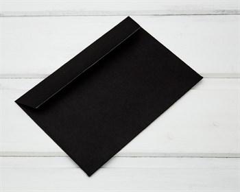 Конверт бумажный С6, 114х162мм, черный (отрывная лента)