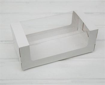 Коробка для выпечки, 25х12х10 см, с круговым окном, белая