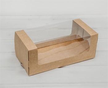 Коробка для выпечки, 25х12х10 см, с круговым окном, крафт