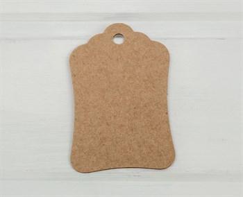 Бирка картонная, 8х5 см, крафт