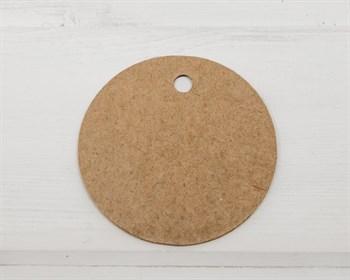 Бирка картонная, круглая, d=6 см, крафт