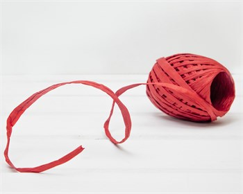 Рафия бумажная, красная, 20 ярдов