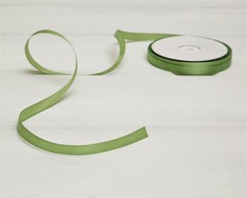 Лента атласная, 10 мм, светло-зеленая, 1 м