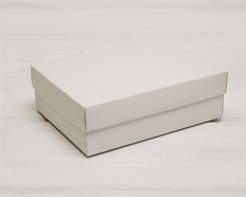 Коробка из мелованного картона, 16,5х12,5х5,2  см, крышка-дно, белая