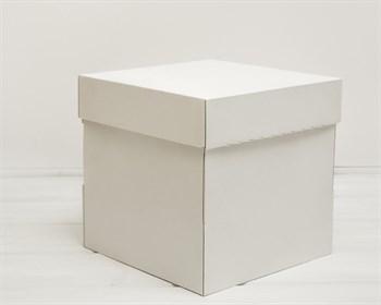 Коробка из плотного картона, 25х25х25 см, крышка-дно, белая
