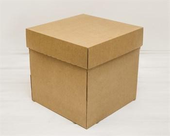 Коробка из плотного картона, 25х25х25 см, крышка-дно, крафт