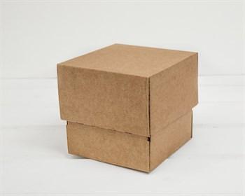 Коробка из плотного картона, 10х10х10 см, крышка-дно, крафт