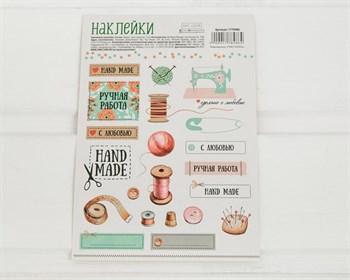 """Наклейки """"Hand made"""", лист 21 шт."""
