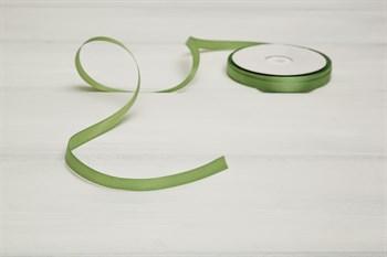 Лента атласная, 10 мм, светло-зеленая, 45 м