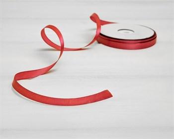 Лента атласная, 10 мм, красная, 45 м