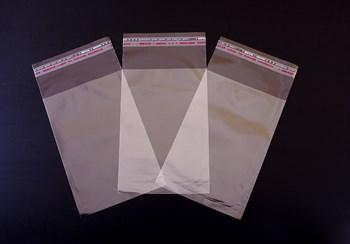 Пакет  с клейкой лентой 10х15 см, прозрачный, 100 шт.