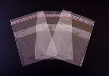 Пакет  с клейкой лентой 12,5х12,5 см, прозрачный, 100 шт.
