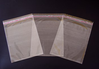 Пакет  с клейкой лентой 18х21 см, прозрачный, 100 шт.