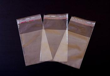 Пакет  с клейкой лентой 7х10 см, прозрачный, 100 шт.