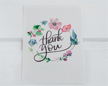 Открытка «Thank you на белом», 7,5х10,5, 1шт.