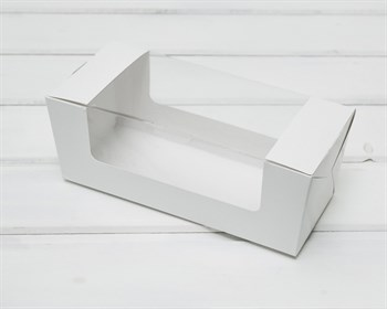 Коробка для выпечки, 20х8х8 см, с круговым окном, белая