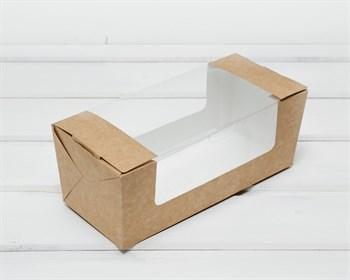 Коробка для выпечки, 20х8х8 см, с круговым окном, крафт