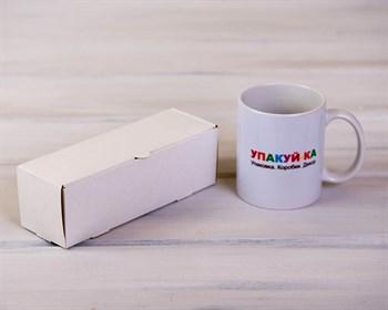 Коробка для макаронс на 6 шт, 18,5х6х6 см, белая